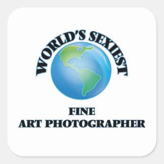 """O fotógrafo o mais """"sexy"""" das belas artes do mundo adesivo quadrado"""