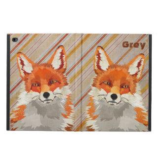 O Fox retro vermelho listra a caixa do iPad