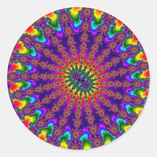 O Fractal do arco-íris estourou grandes etiquetas