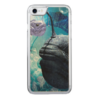 O frogfish com bolhas capa iPhone 7 carved