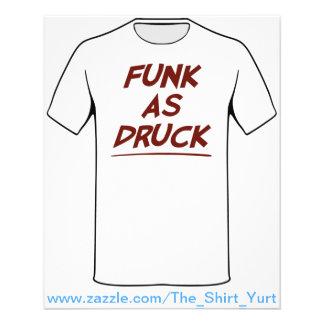 O funk como Druck está muito bêbedo Panfletos Personalizados