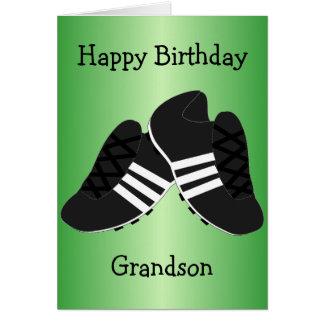 O futebol carreg o aniversário do neto cartão comemorativo