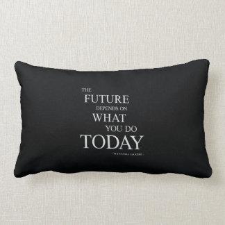 O futuro que inspira citações inspiradores travesseiro