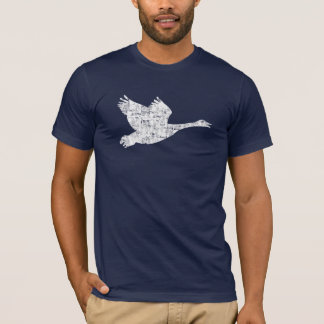 O ganso canadense desvaneceu-se t-shirt