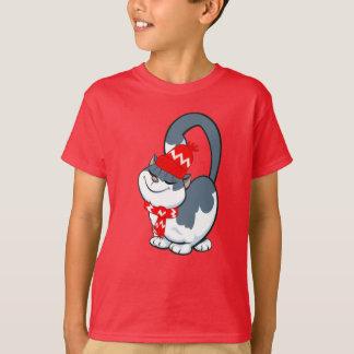 O gatinho engraçado caçoa t-shirt do presente do