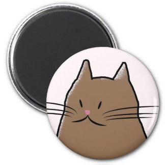 O gato bonito e gordo ímã redondo 5.08cm