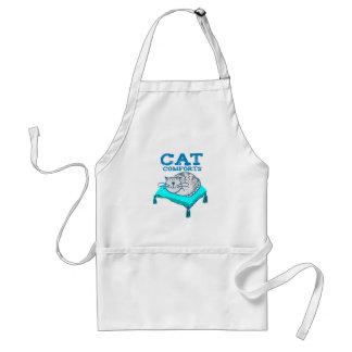 O gato consola a ilustração do gato no avental do