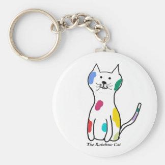 O gato do arco-íris chaveiro
