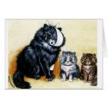 O gato do vintage obtem logo o cartão bom