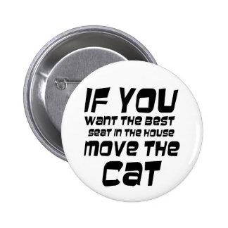 O gato engraçado cita presentes da novidade do bóton redondo 5.08cm