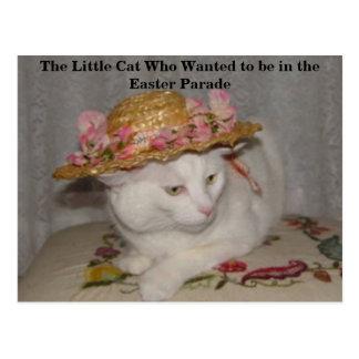 O gato pequeno que quis estar na páscoa Para Cartão Postal