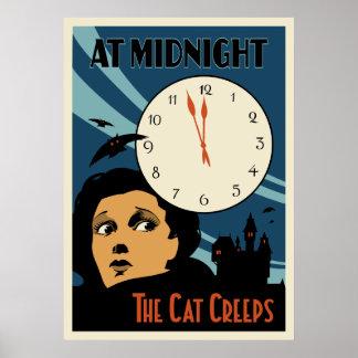 """""""O gato rasteja"""" cartaz cinematográfico do vintage Impressão"""