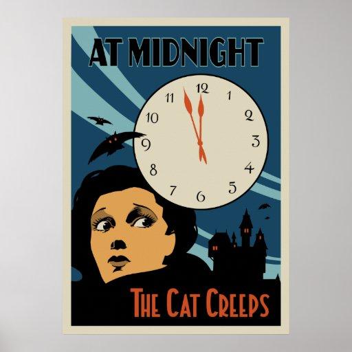 """O gato rasteja"" cartaz cinematográfico do vintage Posters"