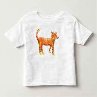 O gato vermelho canta os azuis camiseta
