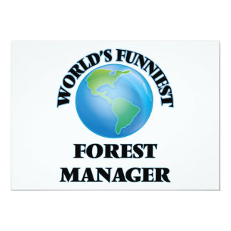 O gerente o mais engraçado da floresta do mundo convite personalizados