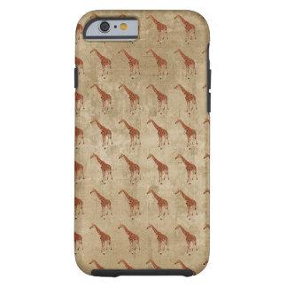 O girafa do vintage modela o caso do iPhone 6 Capa Tough Para iPhone 6