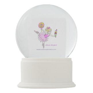 O globo da neve da bailarina seja personalizado
