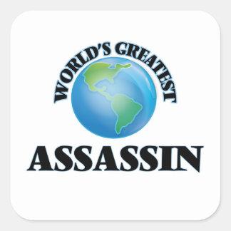 O grande assassino do mundo adesivo quadrado