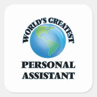 O grande assistente pessoal do mundo adesivo quadrado