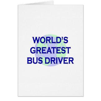 O grande condutor de autocarro do mundo cartões