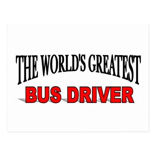 O grande condutor de autocarro do mundo cartoes postais