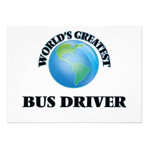 O grande condutor de autocarro do mundo convites personalizados