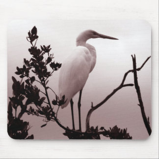 O grande Egret, chaves de Florida Mouse Pad