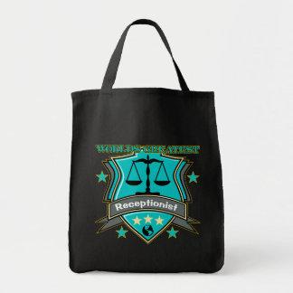 O grande recepcionista do mundo legal bolsas de lona