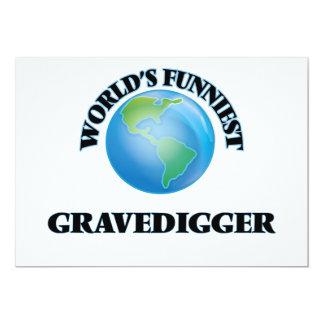 O Gravedigger o mais engraçado do mundo Convite 12.7 X 17.78cm