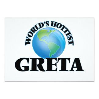 O Greta o mais quente do mundo Convites Personalizados