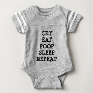 O grito come o Bodysuit do futebol do bebê da T-shirts