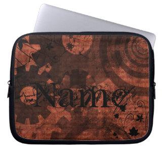 O Grunge Brown marrom Steampunk alinha listras dos Bolsas E Capas Para Computadores