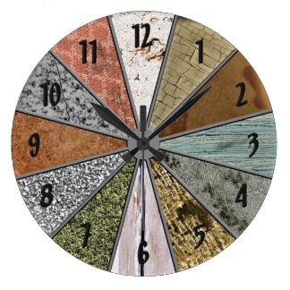 O Grunge colorido dos padrões Funky Textures o pul Relógio Grande
