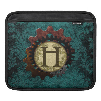 O Grunge Steampunk alinha a letra H do monograma Capas Para iPad