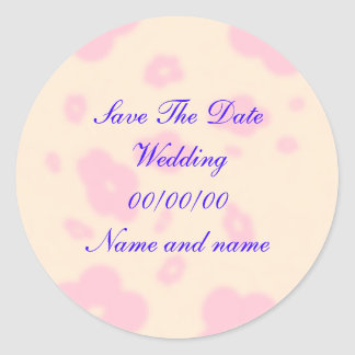 O grupo cor-de-rosa do papel de carta do casamento adesivo