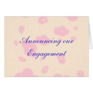 O grupo cor-de-rosa do papel de carta do casamento cartão comemorativo