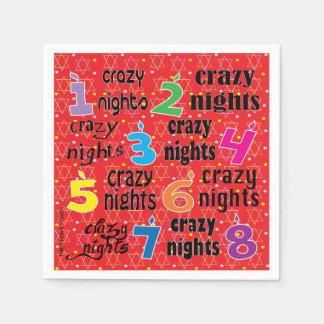 "O guardanapo de Hanukkah personaliza ""8 noites"