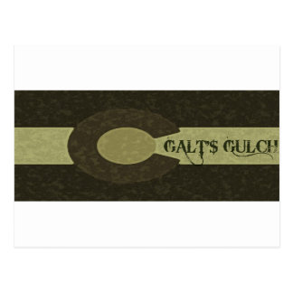 O Gulch de Galt - design combinado das cinzas e do Cartão Postal