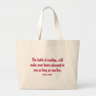 O hábito da leitura fará suas horas agradáveis
