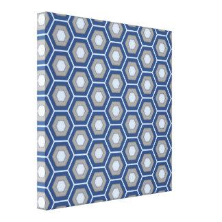 O Hex azul e cinzento telhou canvas Impressão Em Tela