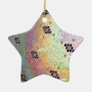 O hexágono telhou o assoalho da cozinha ornamento de cerâmica estrela