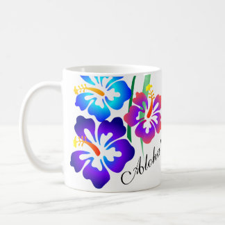 O hibiscus havaiano floresce Aloha Caneca De Café