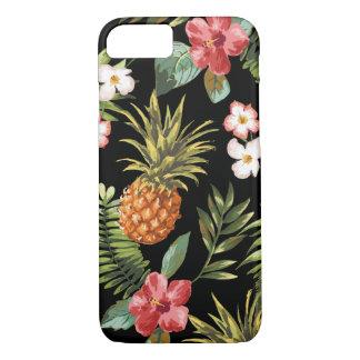 O hibiscus tropical do abacaxi floresce o cobrir capa iPhone 7