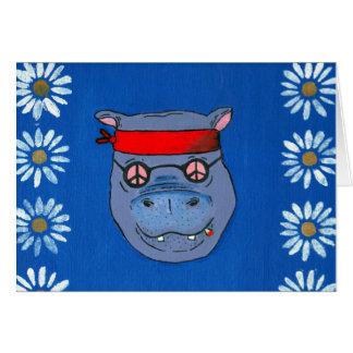 O hipopótamo feliz cartão comemorativo