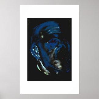 O homem azul vê o futuro poster