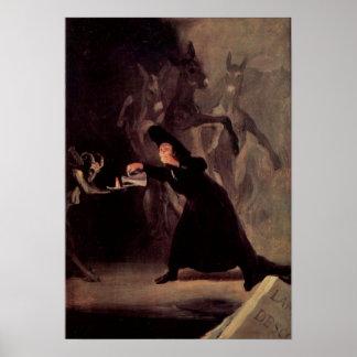 O homem Bewitched por Francisco Goya 1798 Poster