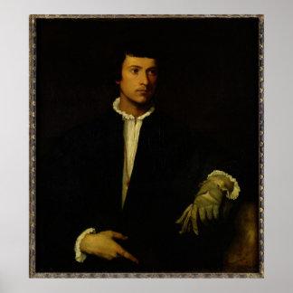 O homem com uma luva, c.1520 poster