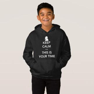 O Hoodie escuro do seu menino do tempo Camiseta