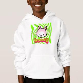 O hoodie legal do coração do mel camisetas
