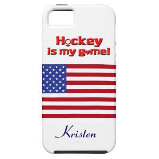 O hóquei é meu jogo! - Bandeira dos E.U. +Nome Capas iPhone 5